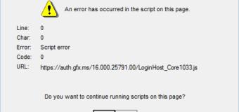 Microsoft Onedrive Skriptfehler auf 10 Fenster