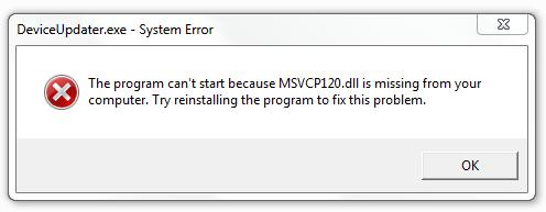 wie man loswerden Msvcp120.dll Fehler