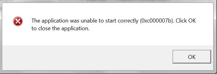 reparieren 0xc00007b Fehler