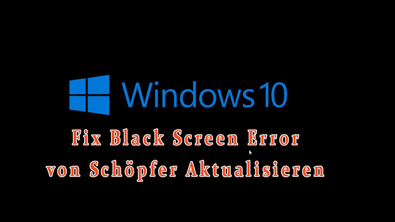 Fix Schwarz Bildschirm Stecken Problem