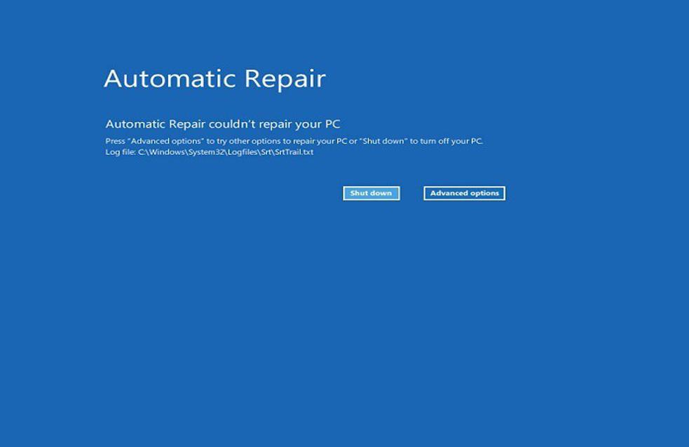 Windows 10 Automatische Reparatur konnte nicht reparieren Ihren PC