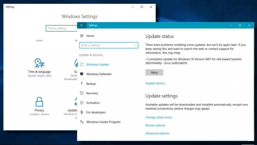 elimine el error de actualización 0x80246010 en Windows 10