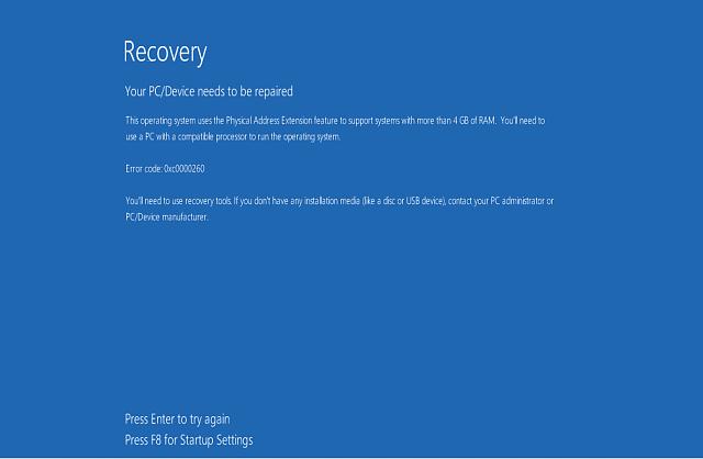 Fehler beim Booten der Konfigurationsdatei in Windows 10 reparieren