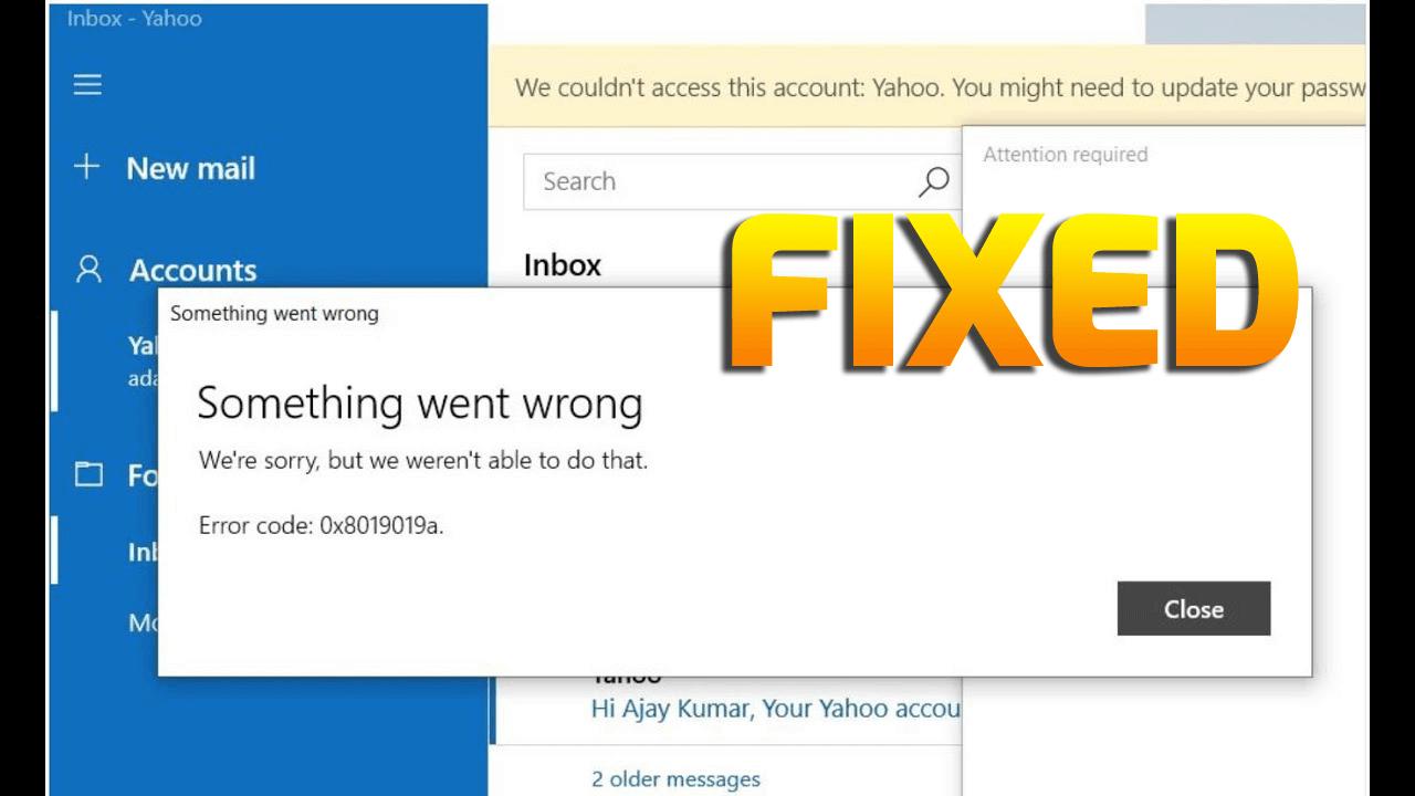 Behebung des Windows 110 Mail App Fehlers 10x810191019a beim ...